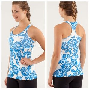 Lululemon Cool Racerback Laceoflage Beaming Blue 8